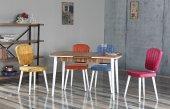 Audrey Lorraine Yemek Odası Takımı Masa Ve 4 Adet Sandalye Takımı