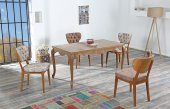 Erica Yemek Masası Masa Ve 4 Adet Bertha Sandalye Takımı