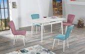 Lynn Yemek Masası Ve + Adet Regina Sandalye Takımı