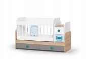 Single-Bebek Odası Takımı-Uzun Sallanır Beşik-3lü Dolap-Şifonyer-2