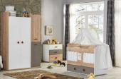 Aras Bebek Odası Takımı Kısa Sallanır Beşik Dolap Şifonyer