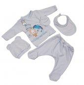 Yeni Doğan Bebek Hastane Çıkışı 5 Li Zıbın Seti Family 020
