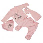 Yeni Doğan Bebek Hastane Çıkışı 5 Li Zıbın Seti Little Star 019