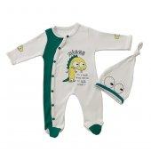 Yeni Doğan Bebek Şapkalı Tulum Takım Mini Zeyn 11