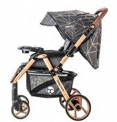 Baby Care BC-50 Maxi Çift Yönlü Lüks Bebek Arabası Gold Siyah-2