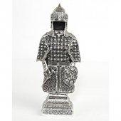 Esmaül Hüsna İşlemeli Savaş Zırhı Beyaz Esmaül Hüsna İşlemeli Kaftan - Gümüş Renk