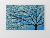 Mavi Soyut Ağaç Tablosu