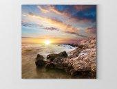 Güneş Batımı Ve Deniz Manzarası Tablosu