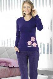 Pijama Takımı Mor 4410