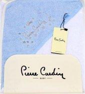 Pierre Cardin Kundak Banyo Havlusu 75x75 Cm Mavi Yıldızlı