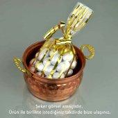 Bakır kulplu şekerlik, lokumluk , hediyelik bayram şekeri-2