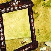 Sedef Kakmalı Dekoratif Ahşap Ayna