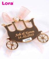 Lora Altın Lazer Kesim Nikah Şekeri Bal Kabağı 50 Adet