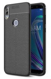 Asus Zenfone Max Pro ZB602KL Kılıf Silikon Özel Niss Deri Görünüm-3