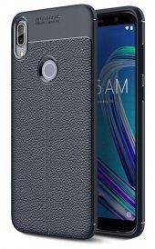 Asus Zenfone Max Pro ZB602KL Kılıf Silikon Özel Niss Deri Görünüm-4