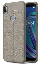 Asus Zenfone Max Pro ZB602KL Kılıf Silikon Özel Niss Deri Görünüm-6