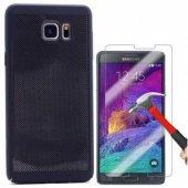 Samsung Galaxy Note 5 Delikli Silikon Sert Kılıf + Nano Kırılmaz