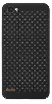 LG Q6 Delikli Silikon Kılıf + Nano Kırılmaz Cam-3