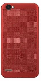 LG Q6 Delikli Silikon Kılıf + Nano Kırılmaz Cam-5