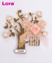Lora Altın Lazer Kesim Nikah Şekeri Ağaç 50 Adet