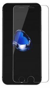 iPhone 8 Plus Kılıf Alansoo Silikon Kılıf Kırmızı + Kırılmaz Ca-2