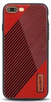 iPhone 8 Plus Kılıf Alansoo Silikon Kılıf Kırmızı + Kırılmaz Ca-3