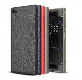 Sony Xperia Xa1 Plus Kılıf Silikon Niss Deri...