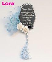 Lora Gümüş Lazer Kesim Nikah Şekeri Nazar Dualı 50 Adet