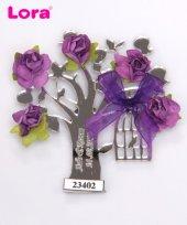 Lora Gümüş Lazer Kesim Nikah Şekeri Ağaç 50 Adet
