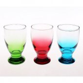 Sigma Glass Mykonos Kahve Yanı Viski Likör Meşrubat Bardağı Renkli 6li