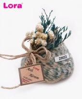 Lora Kuru Çiçekli Yeşil Seri Nikah Şekeri 50 Adet M22