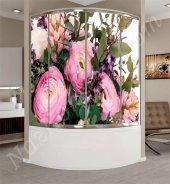 çiçek Modelli Duşakabin Kaplama Folyoları
