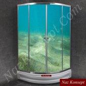 Balık Deniz Altı Modelli Duşakabin Kaplama Folyoları