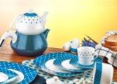 Evimsaray 36 Parça Kare Porselen Kahvaltı Takımı Es 915
