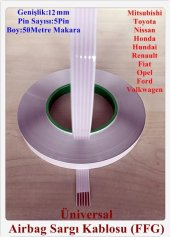 Volkswagen 5 Pin Airbag Sargı Kablosu 12 Mm...