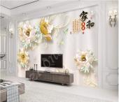 3D  Tv Arkası Salon Duvar Kağıtları