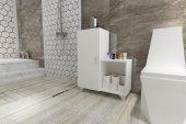 Knmz Banyo Dolabı Alev Byz Ofis Mutfak Kiler Banyo...