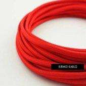 2x0,50mm Kırmızı Renkli Dekoratif Örgülü Kumaş Kab...