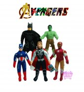 Yenilmezler Avengers Pelüş Oyuncak Seti (Tam 5 Kahraman Seçeneğ