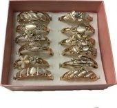 Haremhac 12li Sedef Taşlı Altın Renkli Özel Bileklik