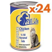 Pati Life Chicken Tavuk Etli Konserve Yaş Mama 24 Adet 415 Gr
