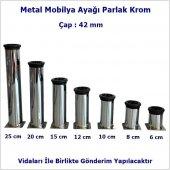 Mobilya Ayağı Metal Alttan Ayarlı 42 Mm Krom Ayak ...
