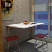 Okba 60x120 Cm Duvara Montaj Katlanır Mutfak Masası