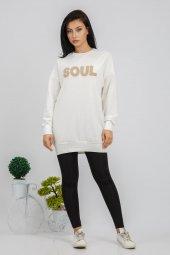 Soul Kadın Ekru Tunik Sweat