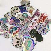 20 Adet Tekrarsız Metalik Renk Karışık Retro Sticker Çıkartma