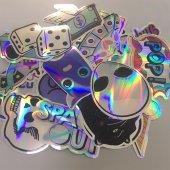 20 Adet Tekrarsız Metalik Renk Karışık Retro Sticker Çıkartma-2