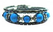 Alnis Atelier Mavi Havlit Doğal Taş Spiralli Bayan Bileklik