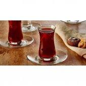 Paşabahçe Fit 12 Parça Çay Seti 6 Çay Bardağı 6 Çay Tabağı-2
