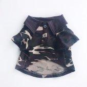 Kamuflaj Polo Yaka Tişört  Köpek Kıyafeti  Köpek Elbisesi-2