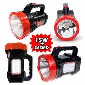 15w Led Şarjlı El Feneri + X2 Tüp 26smd Masa Kamp Lambası Işıldak